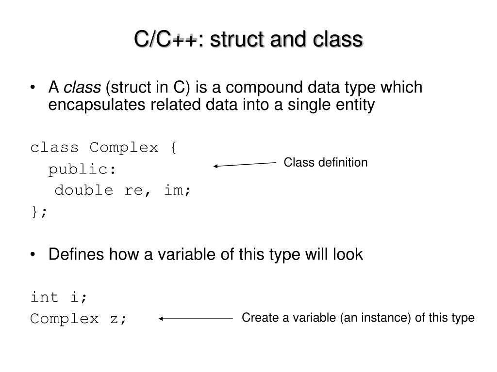 C/C++: struct and class