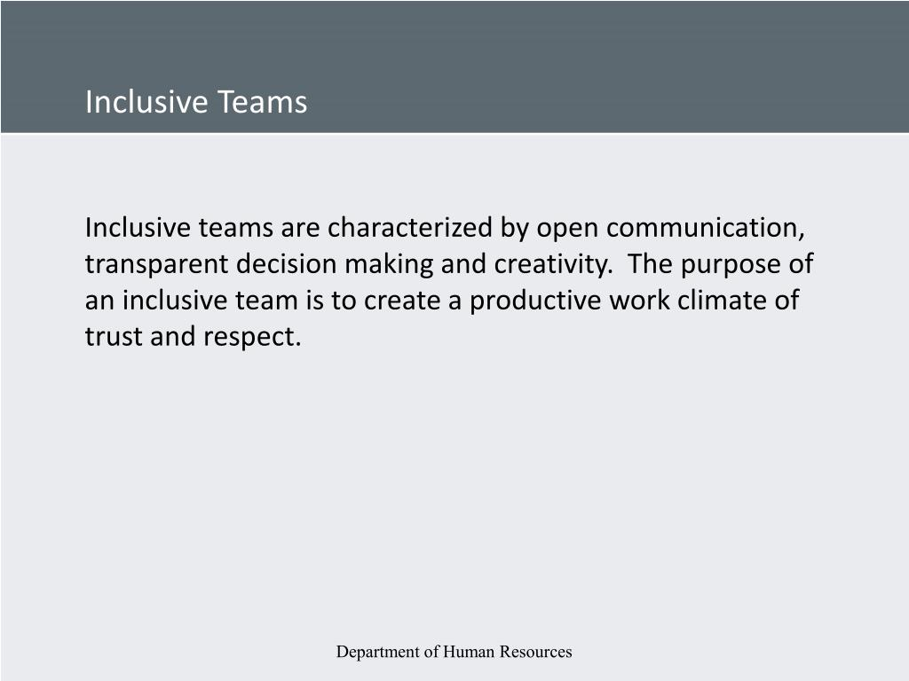 Inclusive Teams