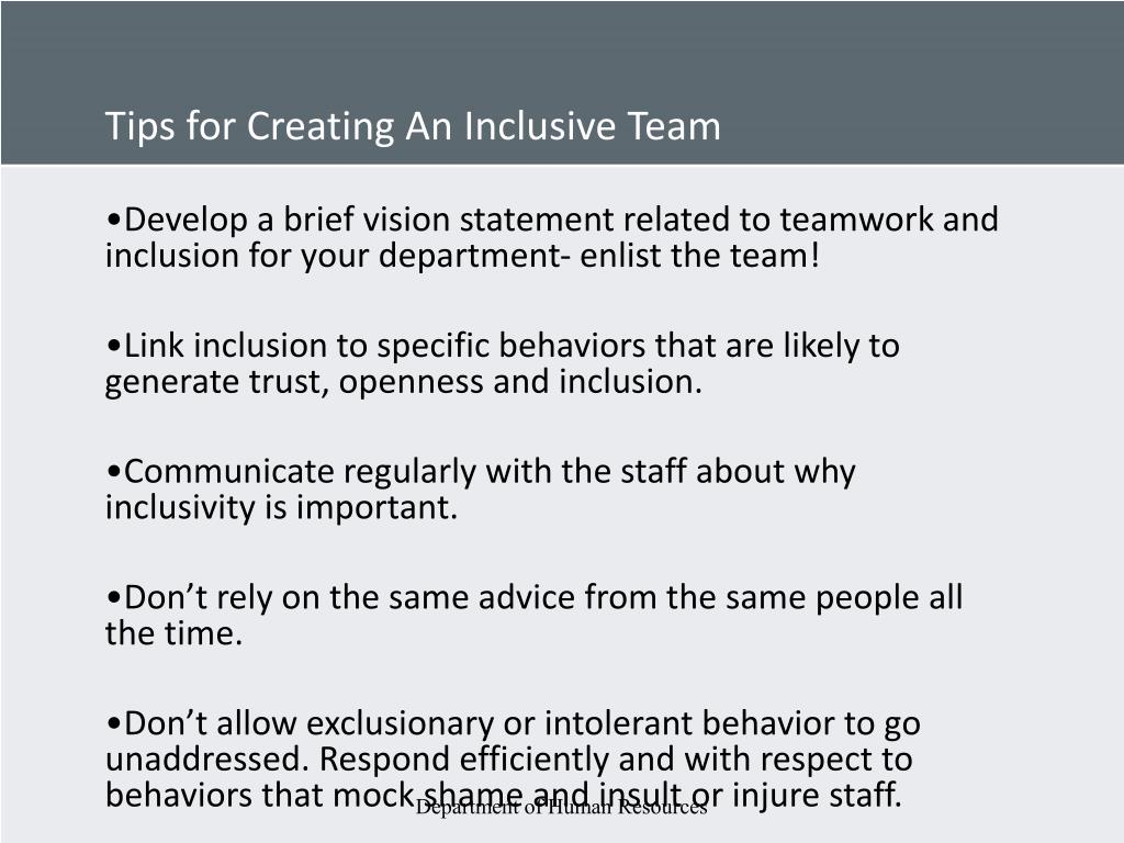 Tips for Creating An Inclusive Team