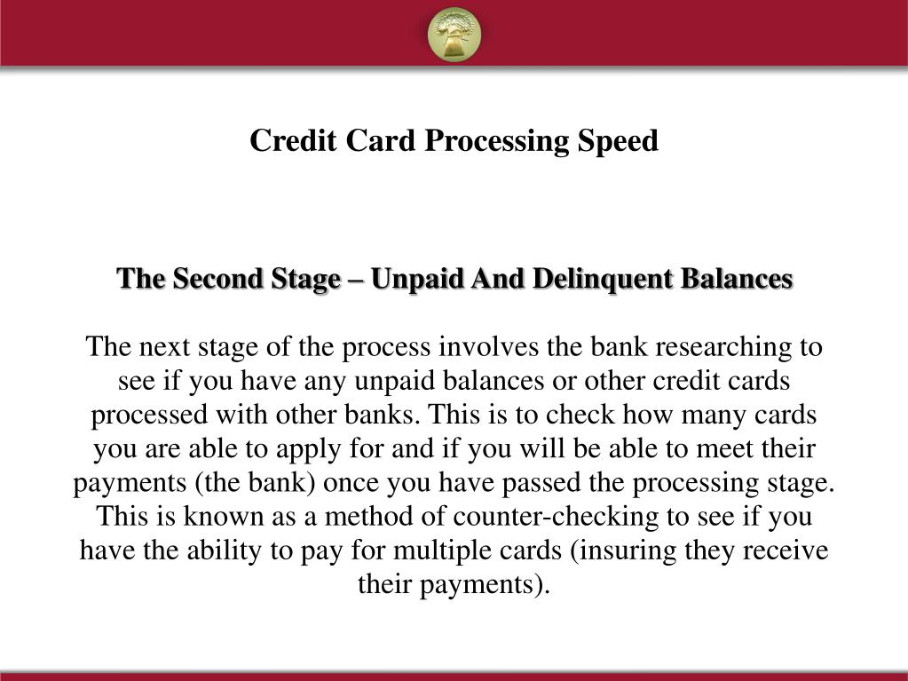 The Second Stage – Unpaid And Delinquent Balances