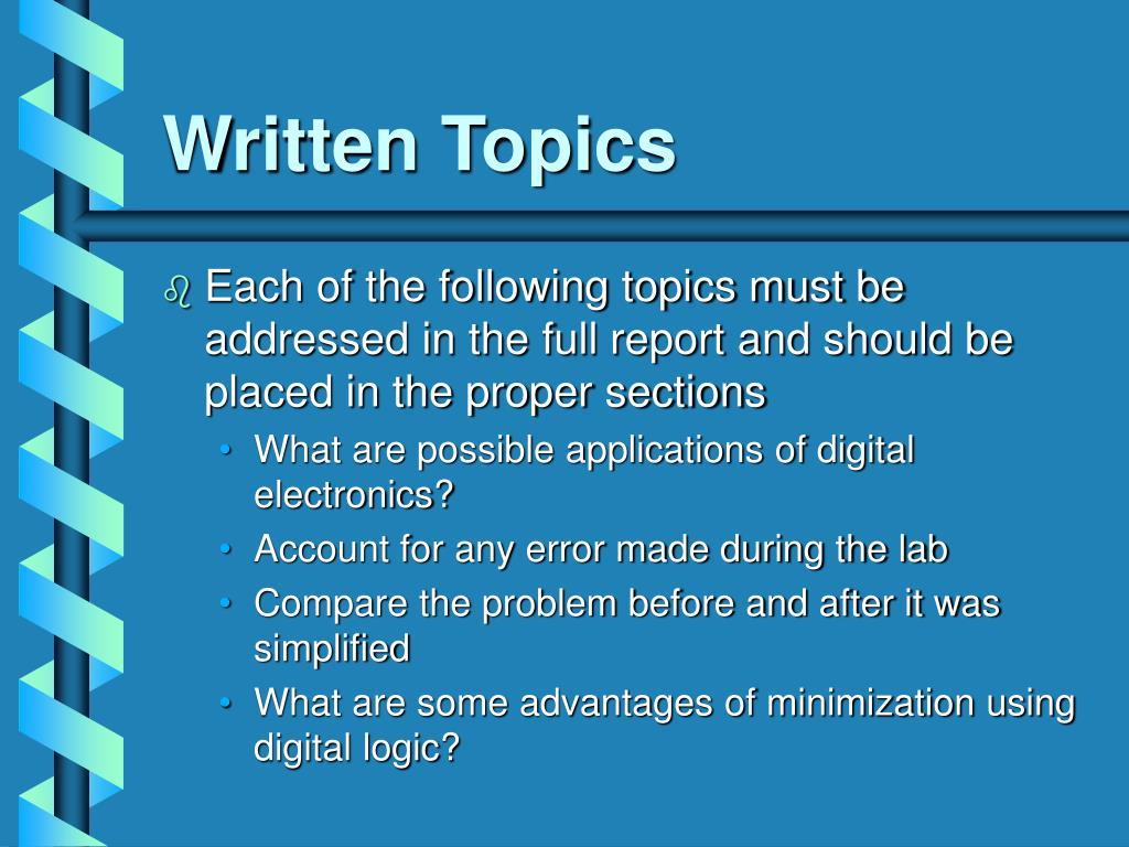 Written Topics