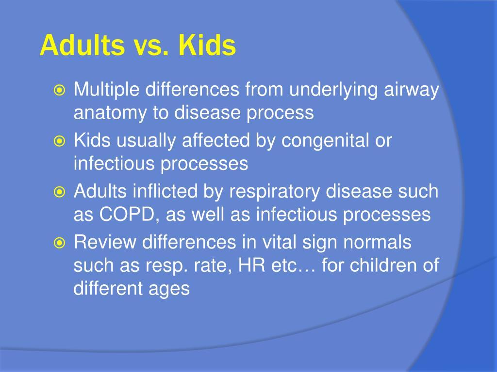 Adults vs. Kids
