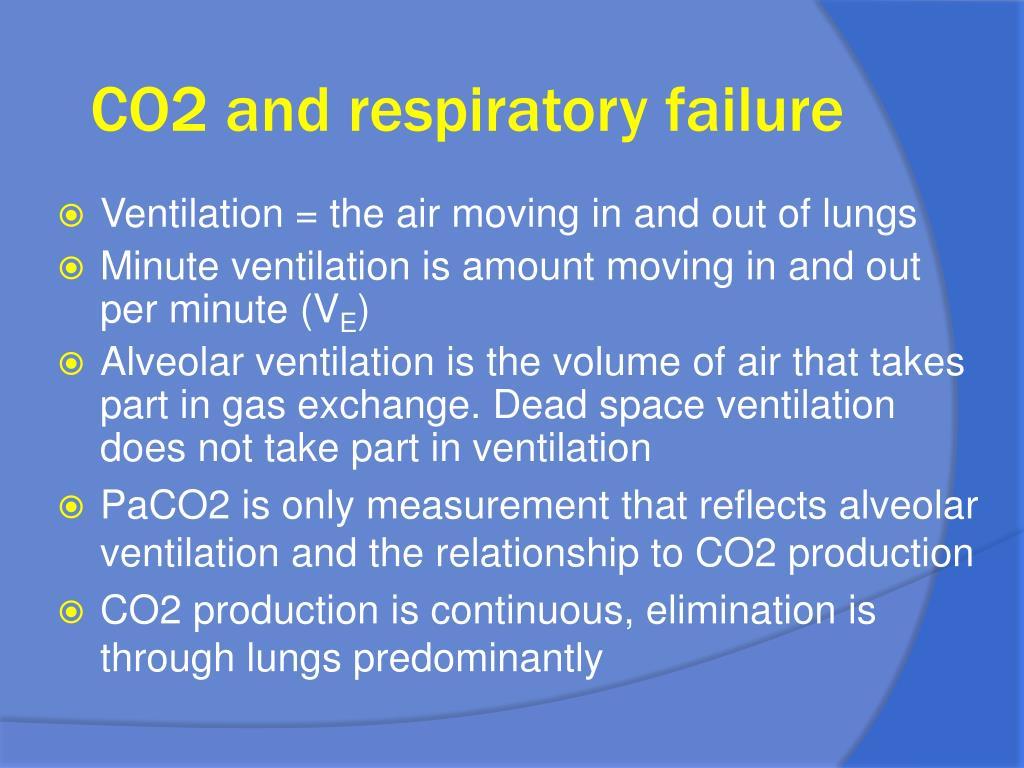 CO2 and respiratory failure