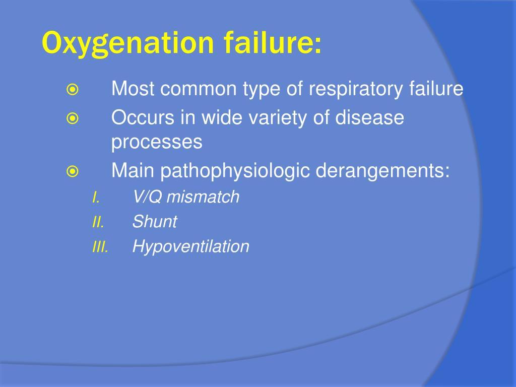 Oxygenation failure: