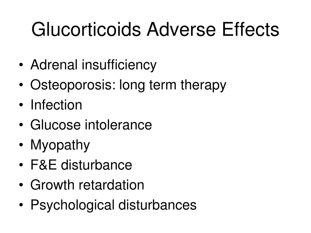 Glucorticoids Adverse Effects