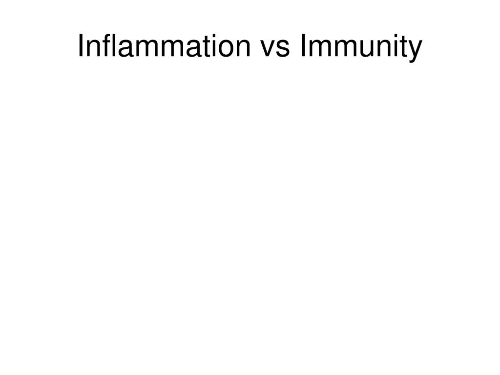 Inflammation vs Immunity