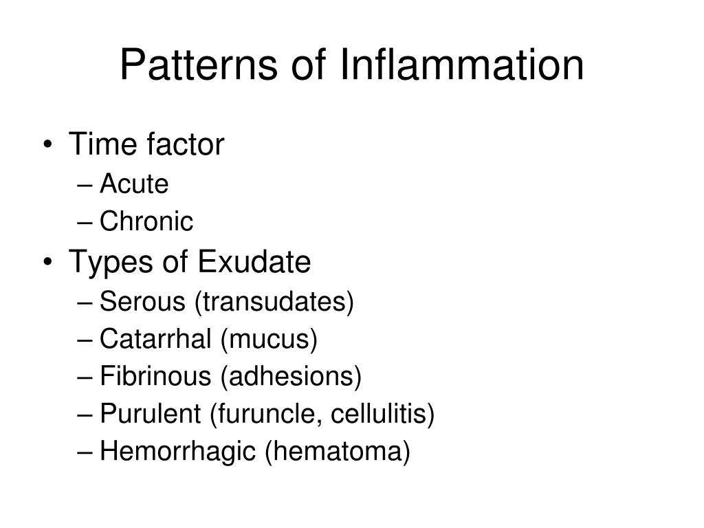 Patterns of Inflammation