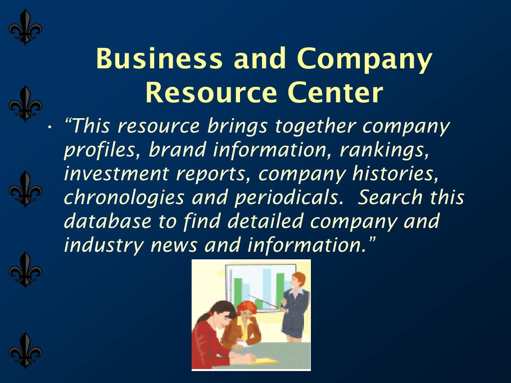 Business and Company Resource Center
