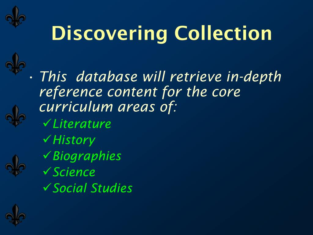 Discovering Collection