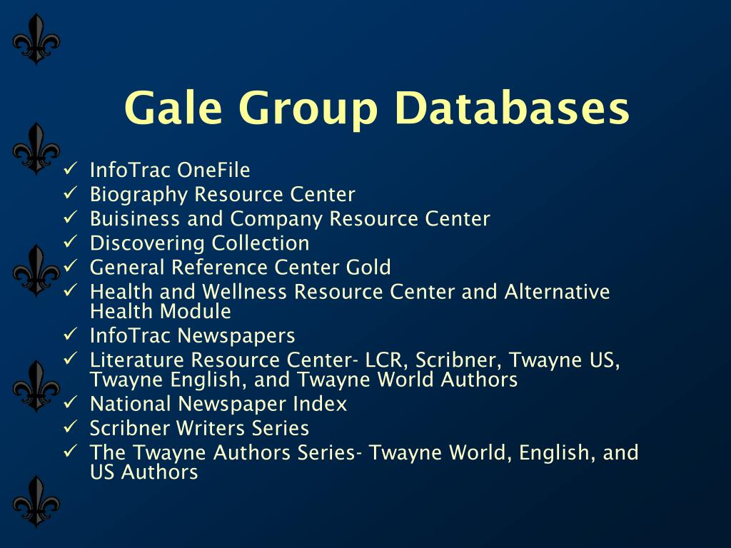 Gale Group Databases