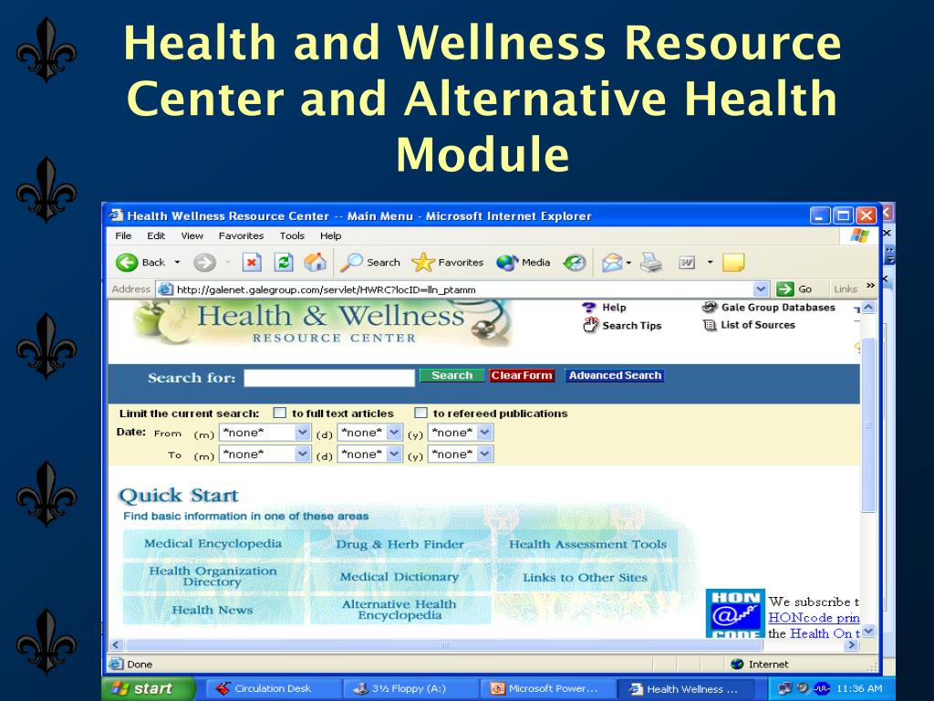 Health and Wellness Resource Center and Alternative Health Module