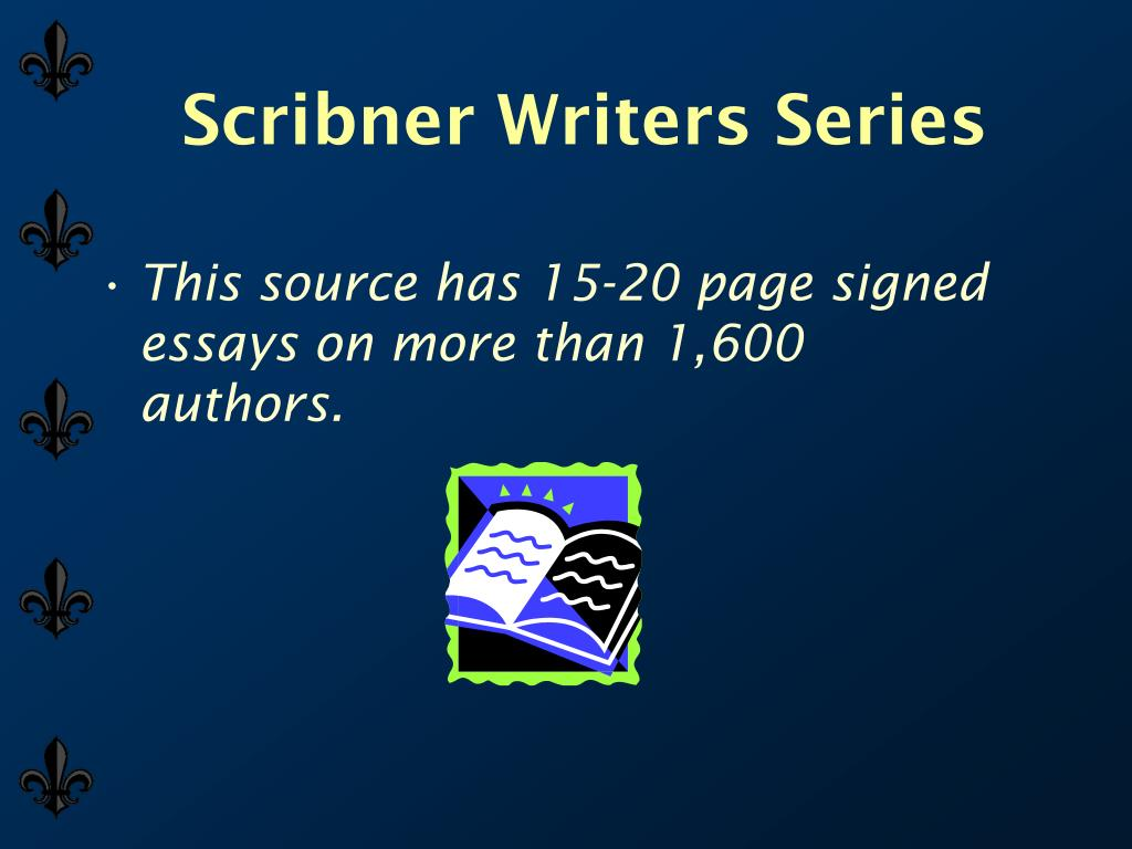 Scribner Writers Series