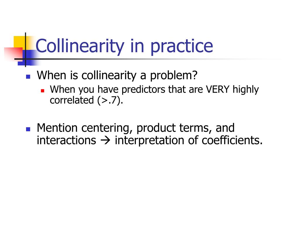 Collinearity in practice
