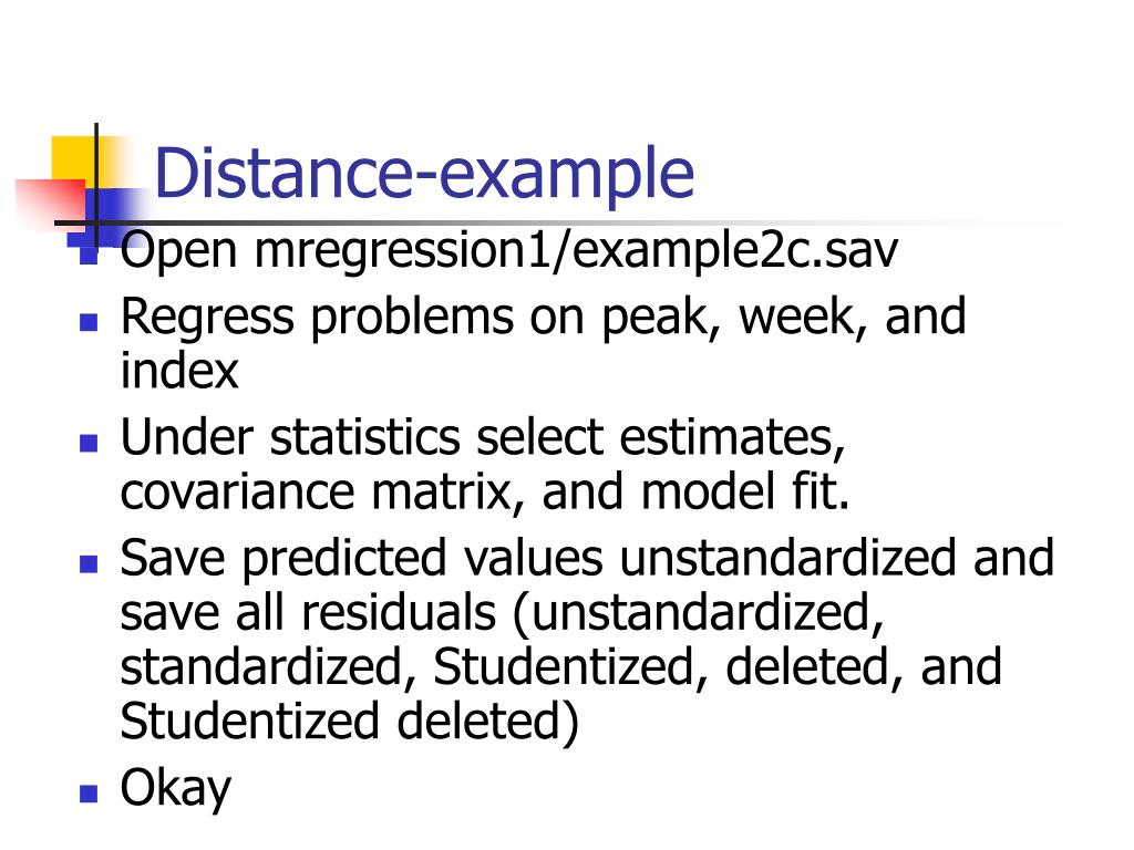 Distance-example
