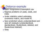distance example