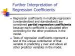 further interpretation of regression coefficients