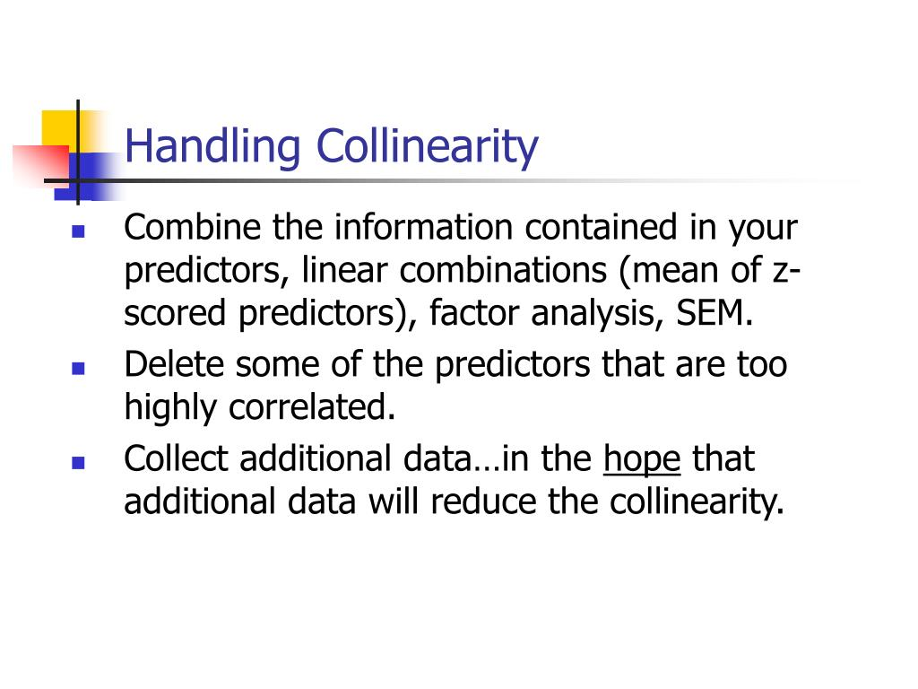 Handling Collinearity