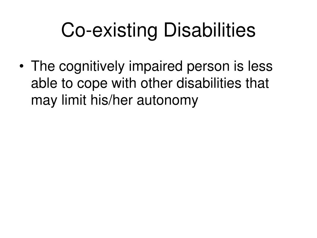 Co-existing Disabilities