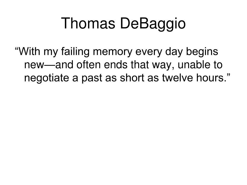 Thomas DeBaggio
