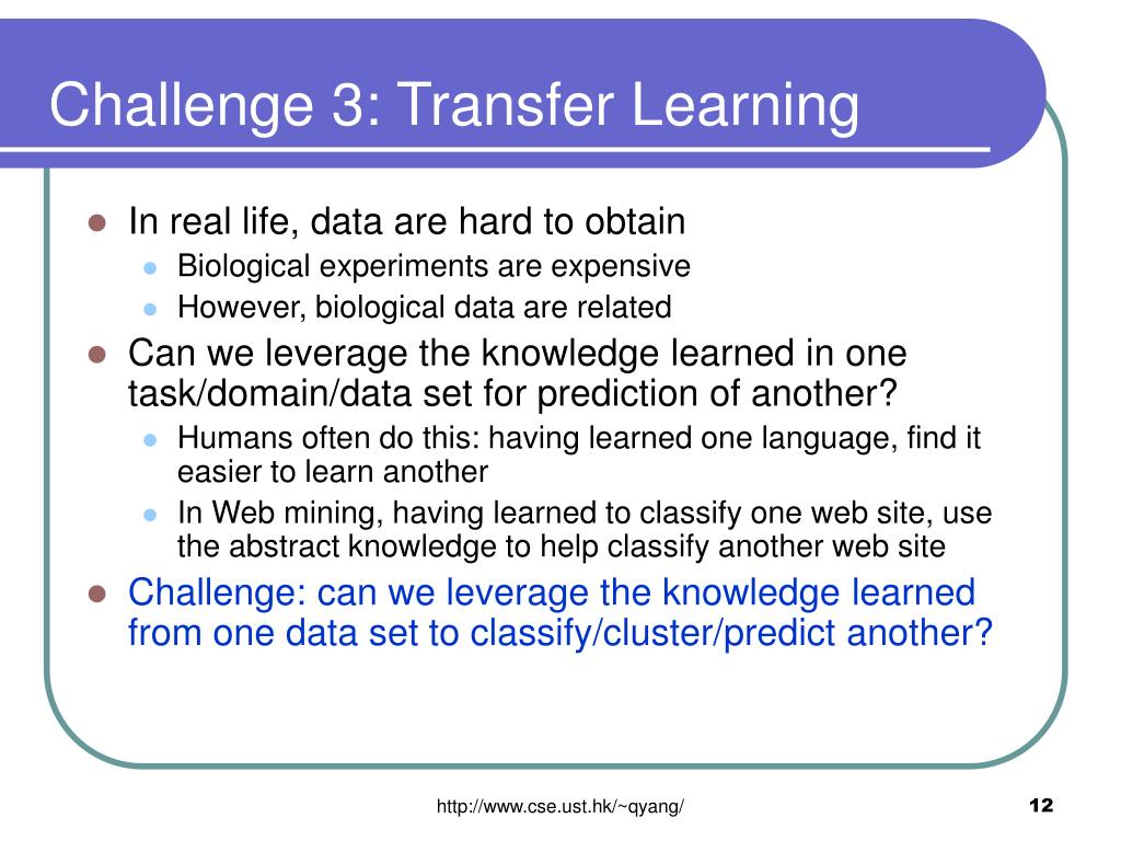 Challenge 3: Transfer Learning