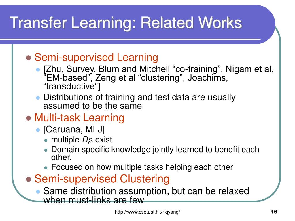 Transfer Learning: Related Works