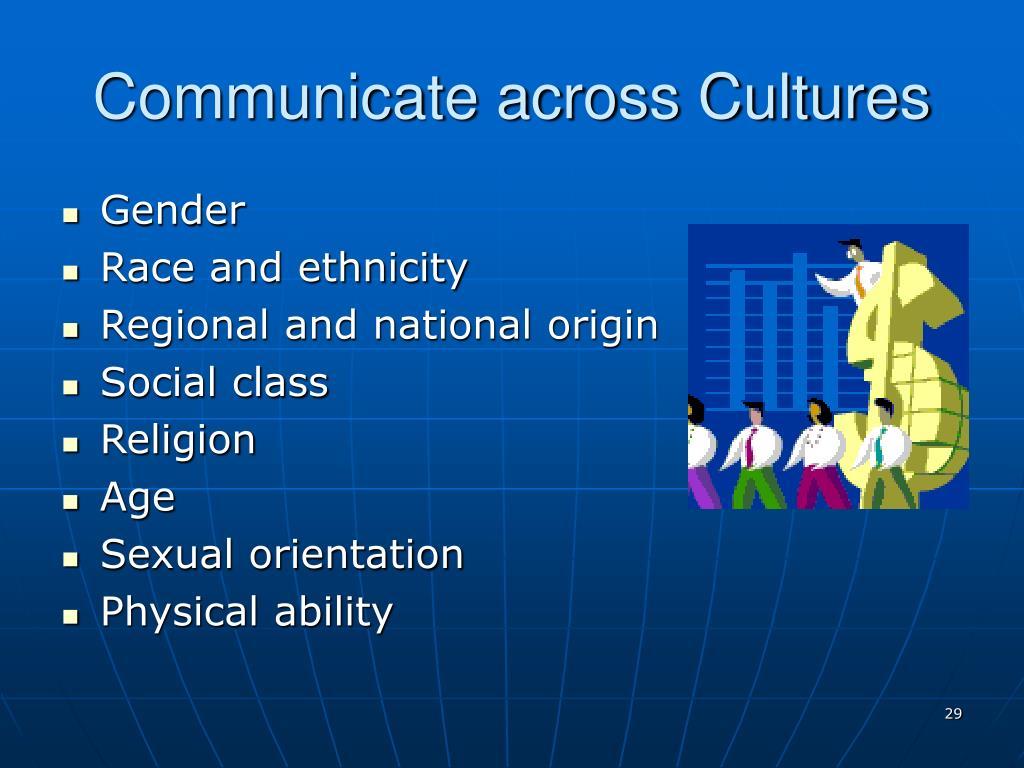 Communicate across Cultures
