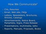 how we communicate 3