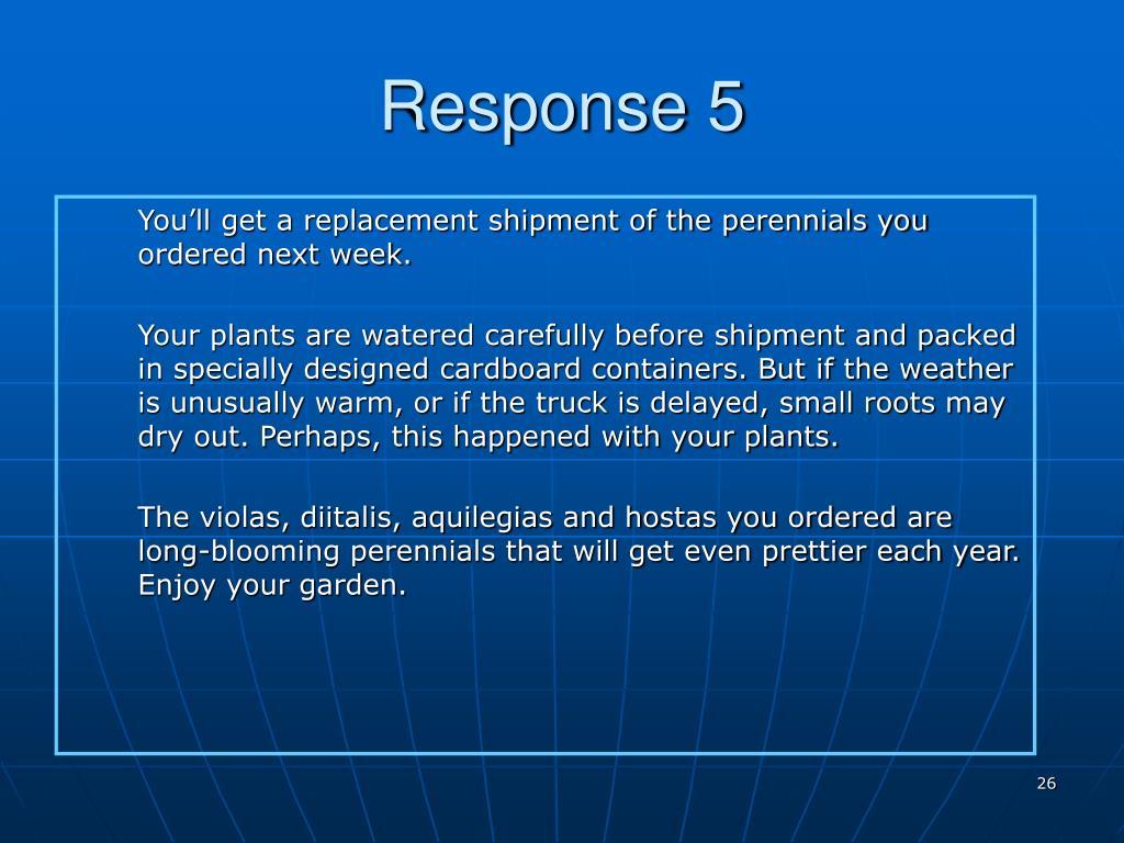 Response 5