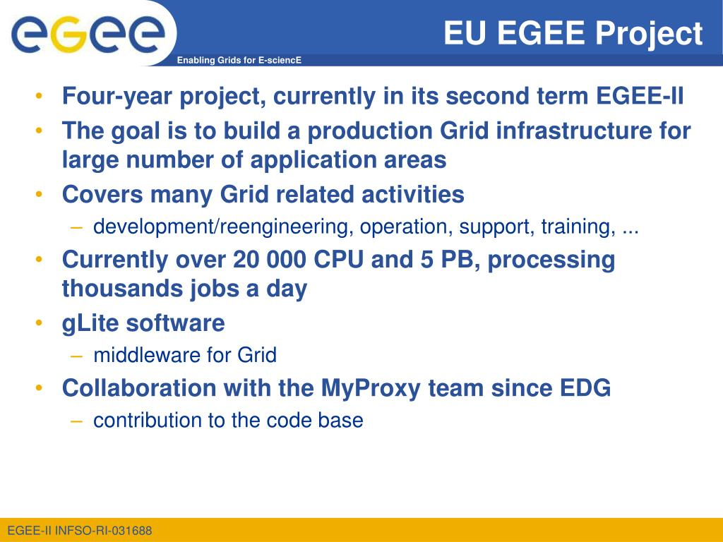 EU EGEE Project