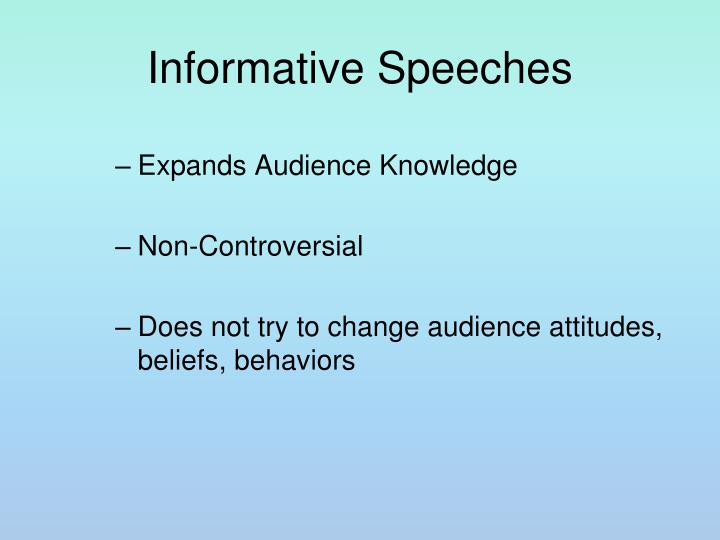 Informative speeches l.jpg