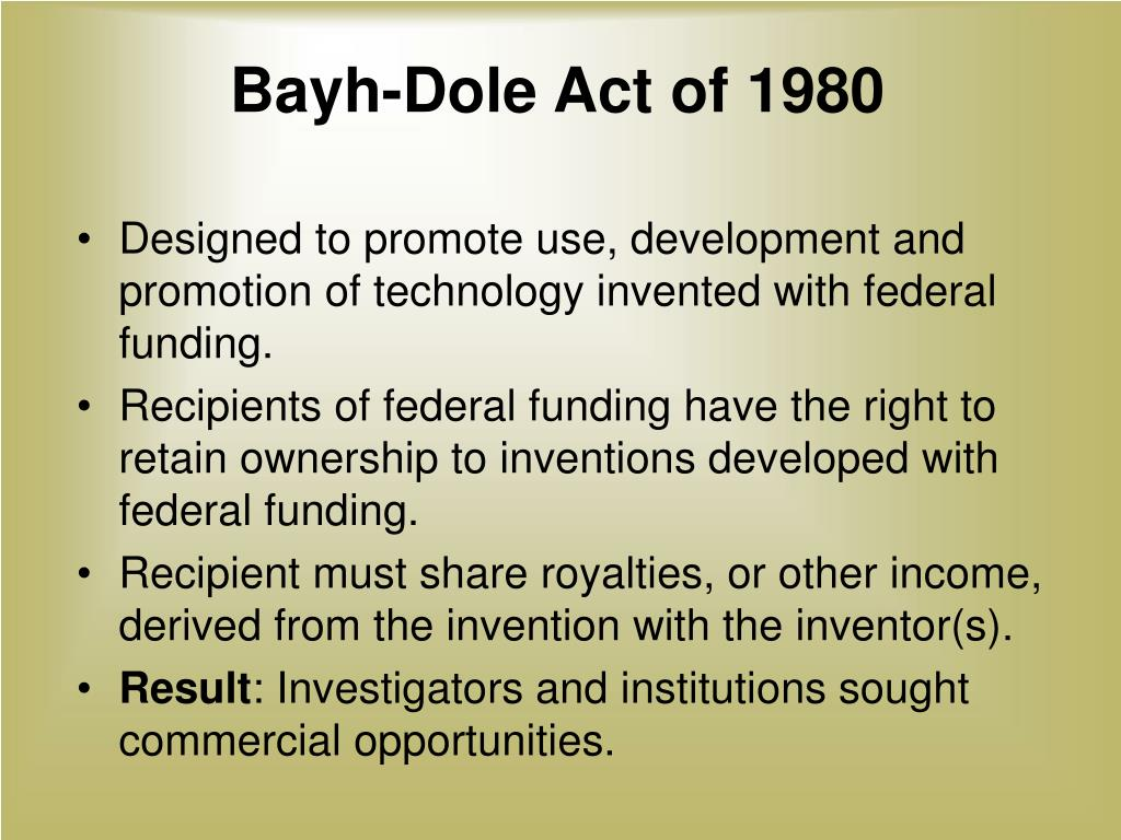 Bayh-Dole Act of 1980