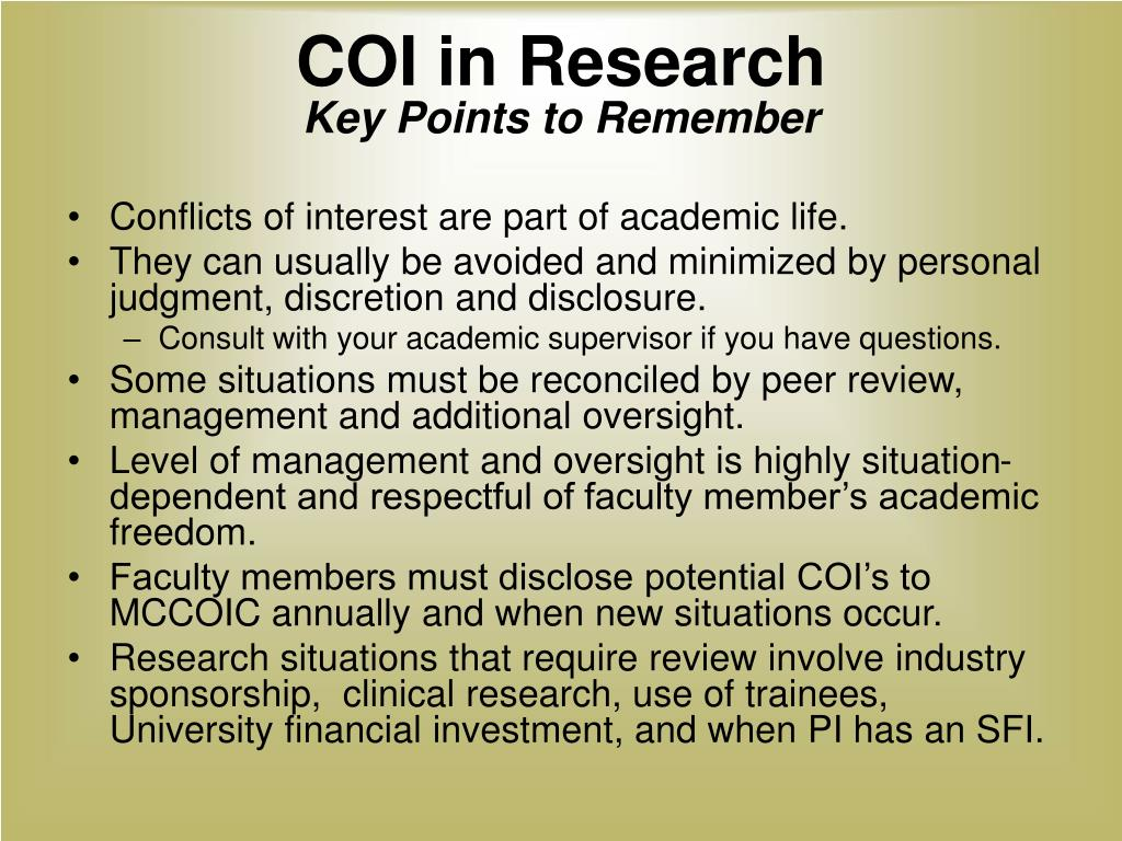 COI in Research