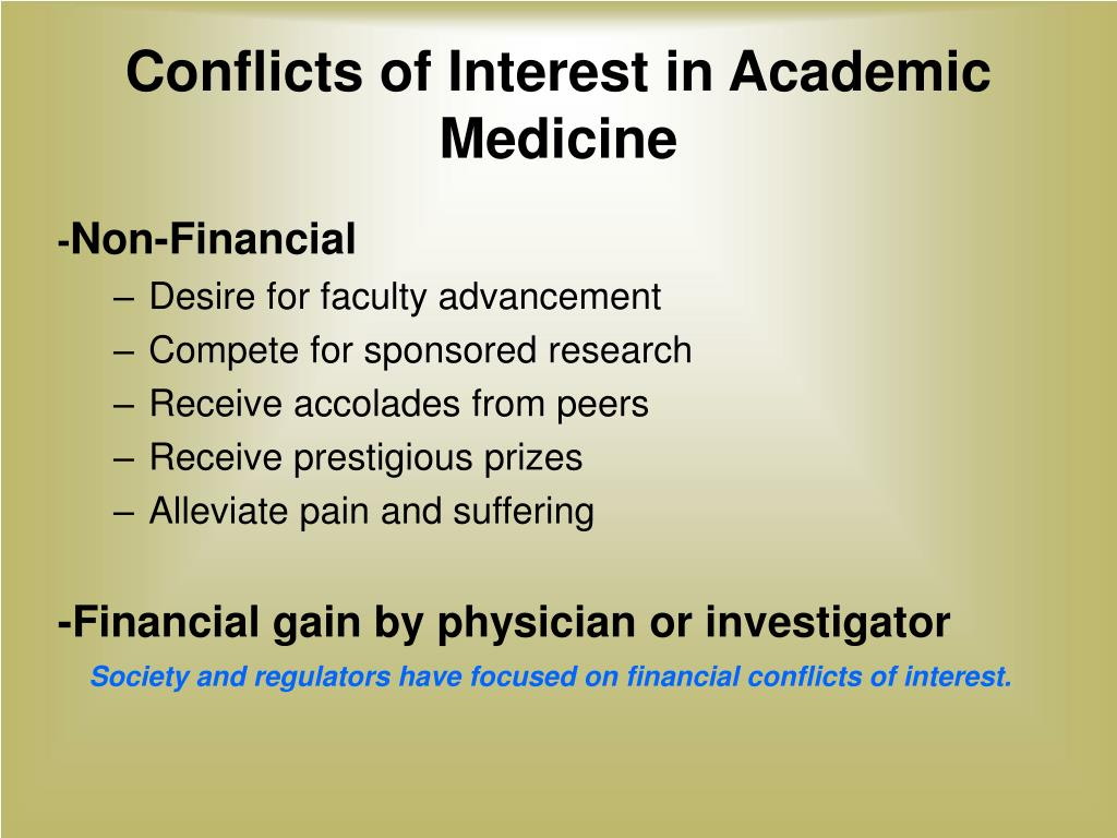 Conflicts of Interest in Academic Medicine