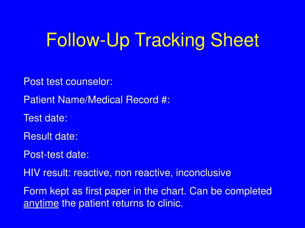 Follow-Up Tracking Sheet