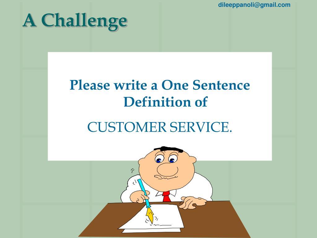 A Challenge