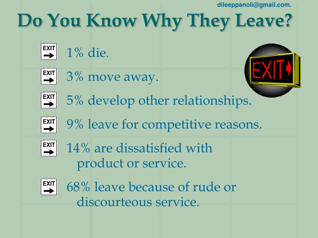 Do You Know Why They Leave?