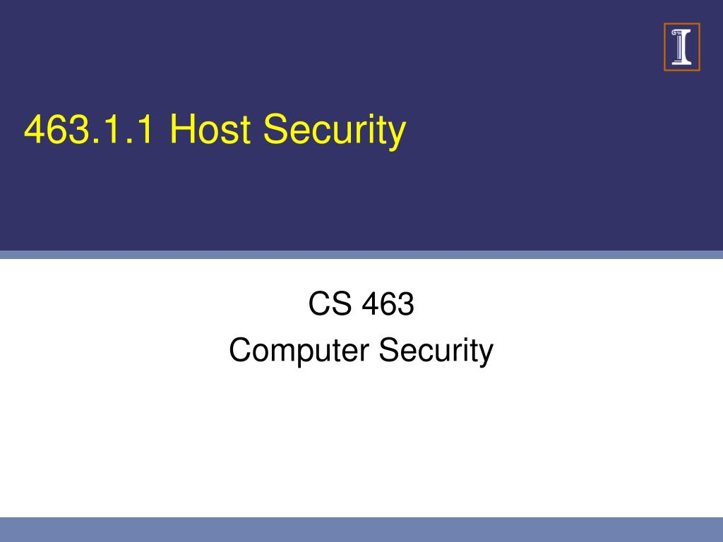 463.1.1 Host Security