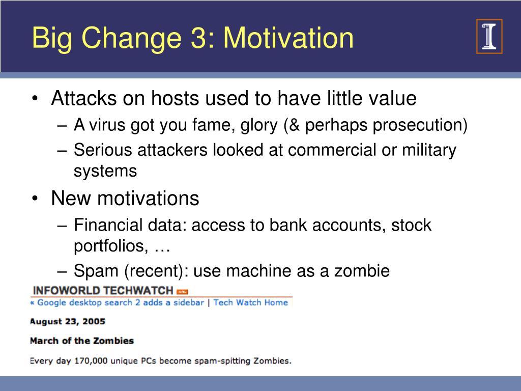 Big Change 3: Motivation