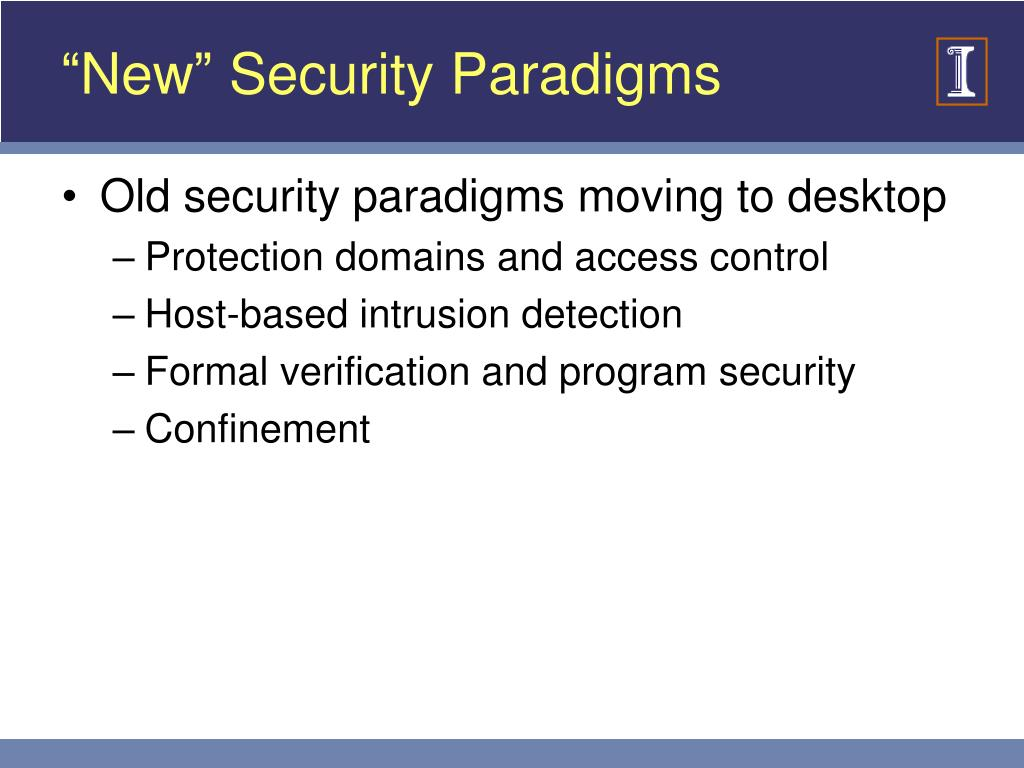 """New"" Security Paradigms"