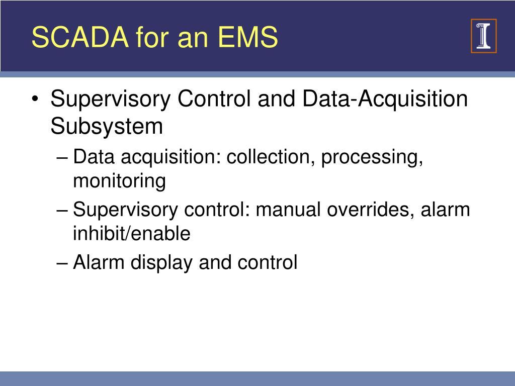 SCADA for an EMS