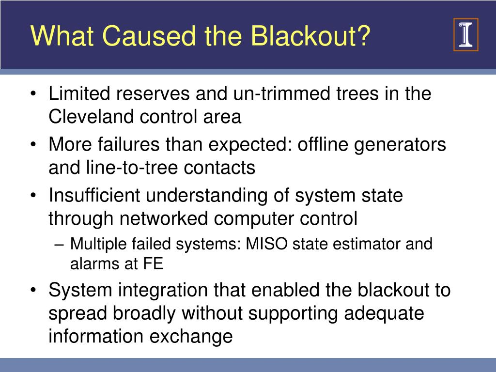 What Caused the Blackout?