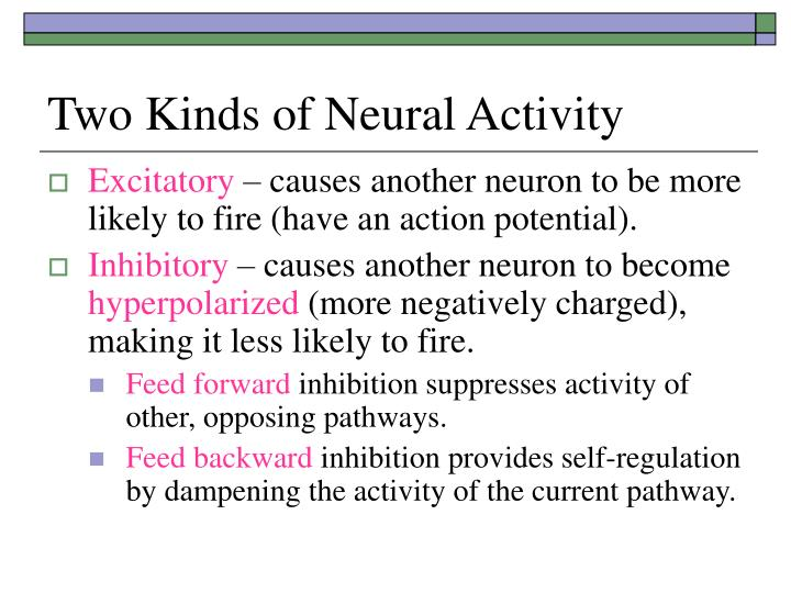 Two Kinds of Neural Activity