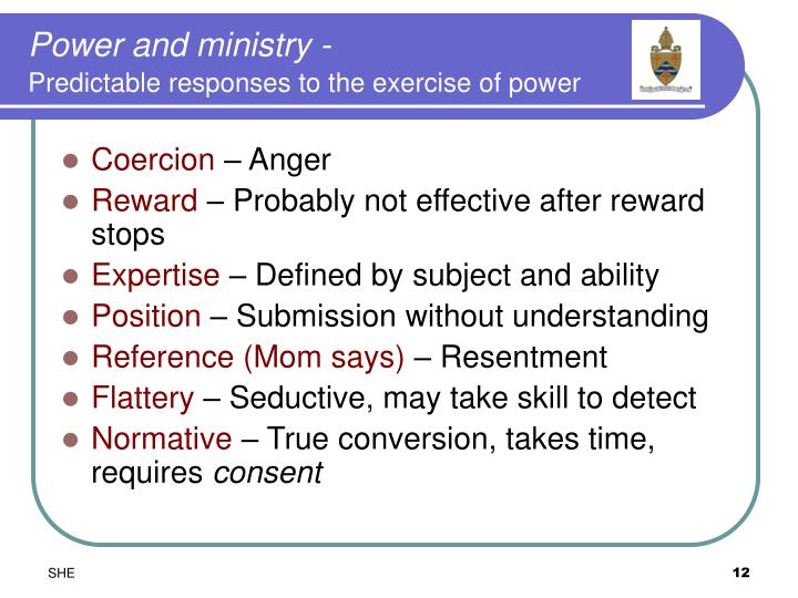 Power and ministry -