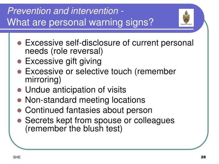 Prevention and intervention -