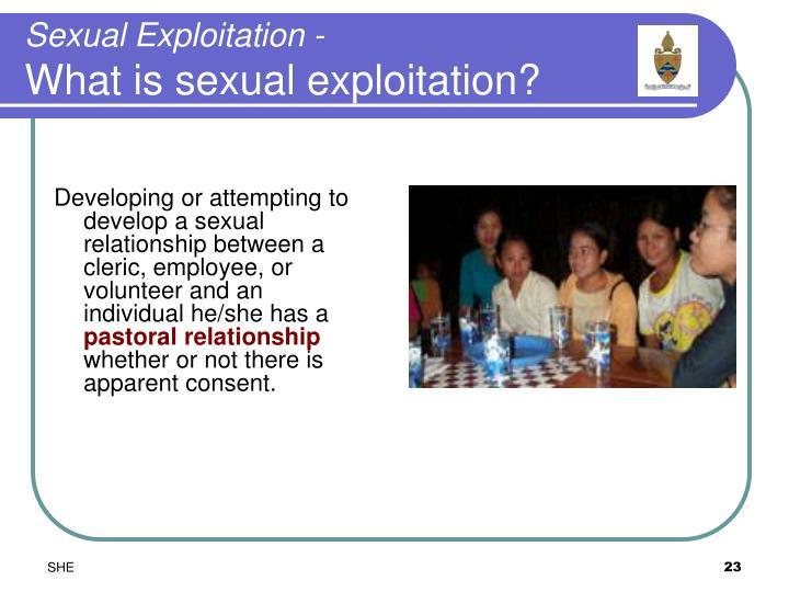 Sexual Exploitation -