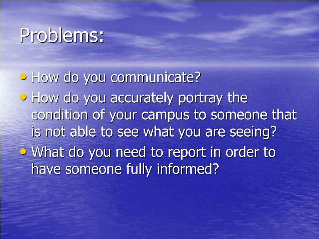 Problems: