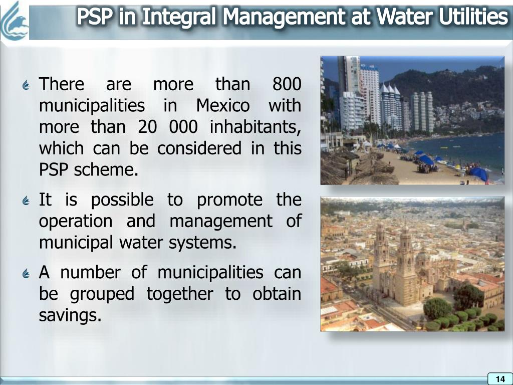 PSP in Integral Management at Water Utilities