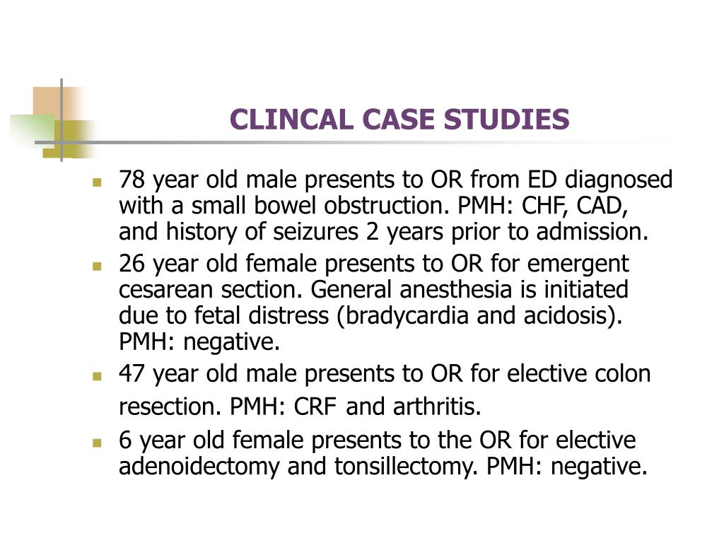 CLINCAL CASE STUDIES