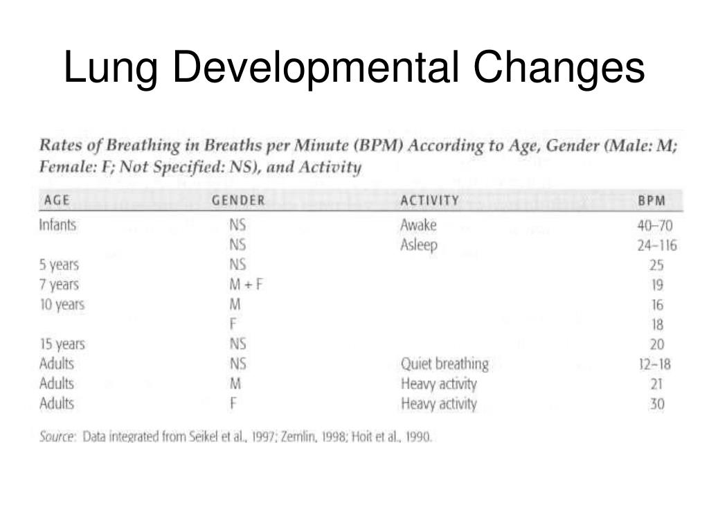 Lung Developmental Changes