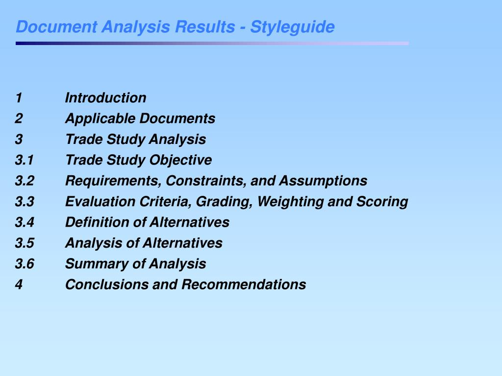 Document Analysis Results - Styleguide